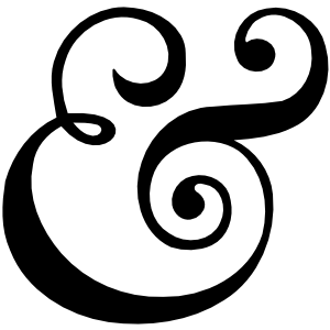 A beautiful ampersand